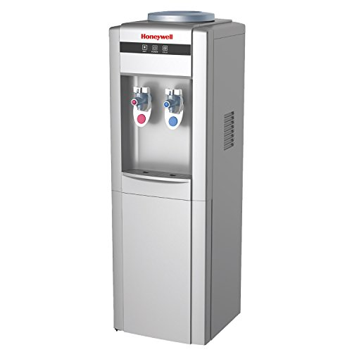 Honeywell HWB1052S2 Cabinet Freestanding Hot and Cold Water Dispenser with Stainless Steel Tank to help improve water taste and avoid corrosion, Back Handle for EASIER HANDLING, Silver (Water Dispensers compare prices)
