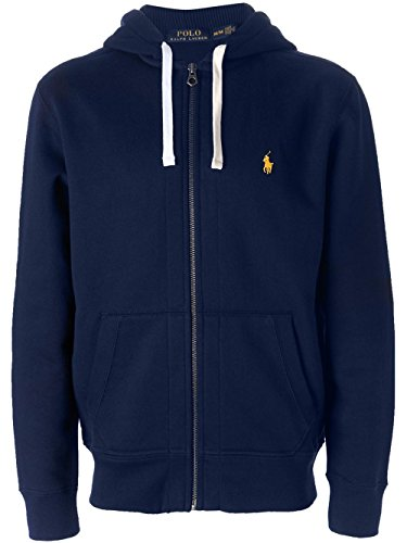Polo Ralph Lauren Classic Mens Fleece Hoodie 710548546-001 Cruise Navy Medium (Ralph Lauren Thermal Hoodie compare prices)