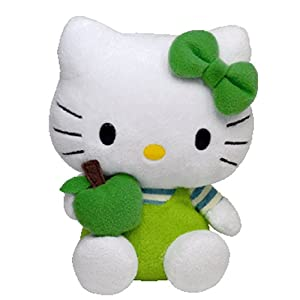 Ty Licensed Beanie Hello Kitty Baby Soft Toy Green Apple
