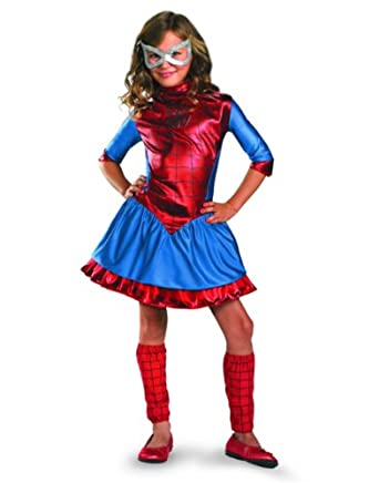 Spidergirl Deluxe Child Costume Size Small (4-6)