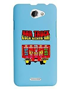 KolorEdge Back Cover For HTC Desire 516 - Sky Blue (2866-Ke15149HTC516SBlue3D)