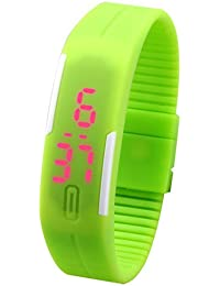 LegendDeal Popati Digital LED Watch With Date Function And Flexible Belt And Magnet Lock - For Men, Women, Kids