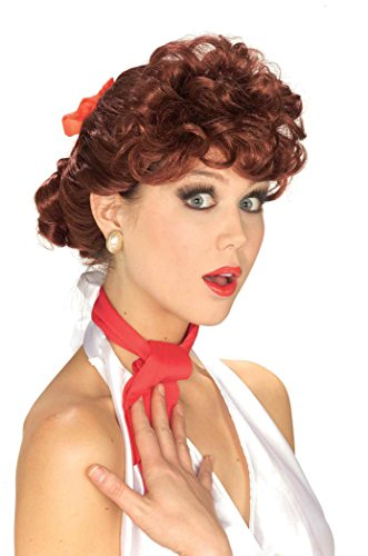 Forum Novelties Women's 50's Housewife Wig, Auburn, One Size