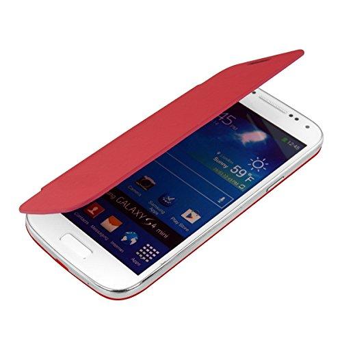 kwmobile フリップスタイル ケース カバー Samsung Galaxy S4 Mini用 ふた付き保護ケース バッグ 赤色