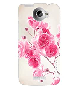 ColourCraft Beautiful Roses Design Back Case Cover for HTC ONE X