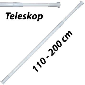 DUSCHVORHANG STANGE TELESKOPSTANGE  BIS 300 CM VERSTELLBEREICH