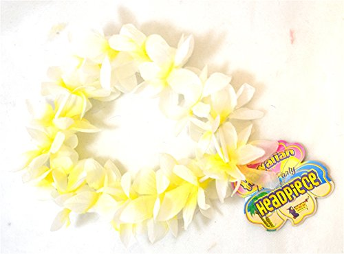 White/Yellow Lei Headpiece