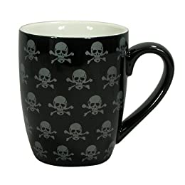 skulls and bacon ceramic skull mugs