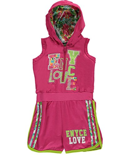 Enyce Little Girls Toddler Hooded Multi-Trim Romper