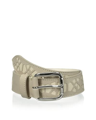 Bergè Women's Laser Cut Belt  [Light Taupe]
