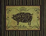 le Cochon by Devereux, Sophie - Fine Art Print on CANVAS : 16.5 x 13 Inches