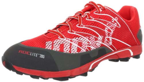Inov-8 Unisex Roclite 285 Trail Running Shoe,Red/Slate,14 B(M) US Women's/12.5  D