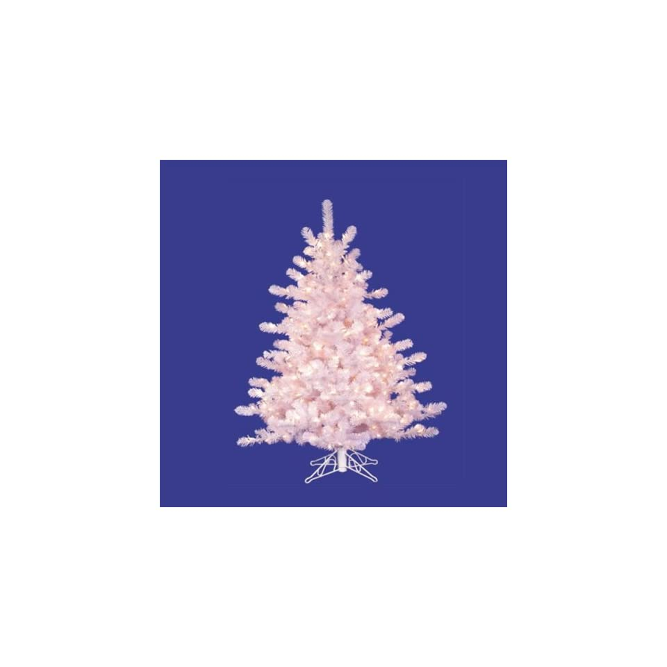 4.5 Pre Lit White Crystal Pine Christmas Tree   Clear
