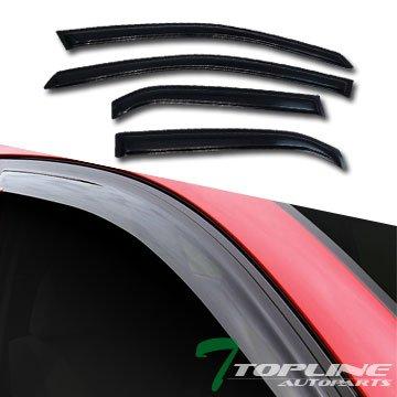 Topline Autopart Sun Rain Smoke Guard Vent Shade Deflectors Window Visors 02-07 Mitsubishi Lancer (Window Visor Mitsubishi compare prices)