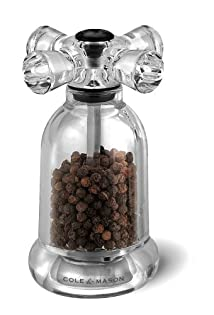 Cole and Mason H63001P Tap 4-1/2-Inch Pepper Mill Clear Acrylic