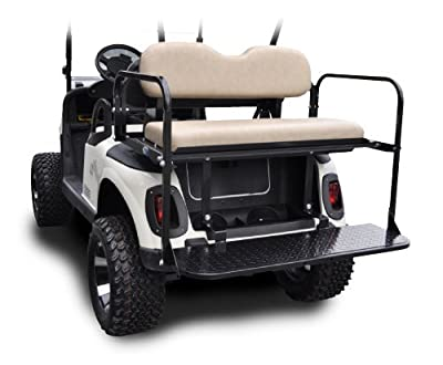 Madjax 01-010 Genesis 150 Rear Flip Seat Kit for 2008-Up EZGO RXV Golf Carts Sandstone Cushions