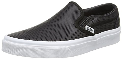 Vans U Classic Slip-on Sneaker, Unisex Adulto, Nero (perf Leather/black), 41