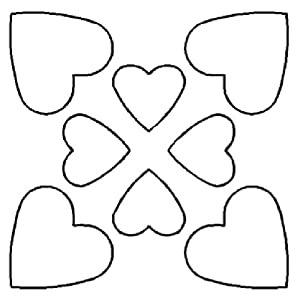 """Amazon.com: Hearts 4"""" Quilting Stencil"""