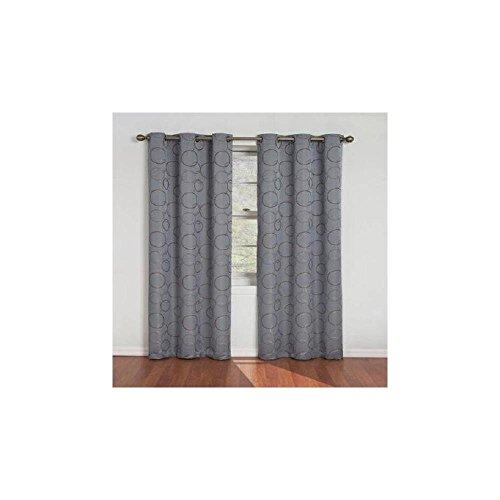 Eclipse Zodiac Energy-Efficient Curtain Panel-River Blue-42