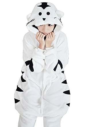 Keral Pyjama Onesie Adulte Cospaly Partie Costume Tenue XL Blanc Tigre