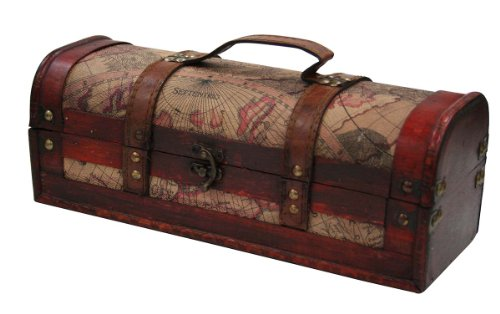 Chateau 1 Bottle Old World Wooden Wine Box by Twine (Corkscrew Wine Rack compare prices)