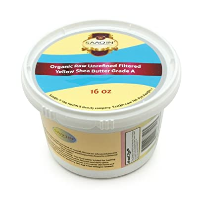 1 Lb Organic Raw Unrefined Filtered Shea Butter, Top Premium Quality