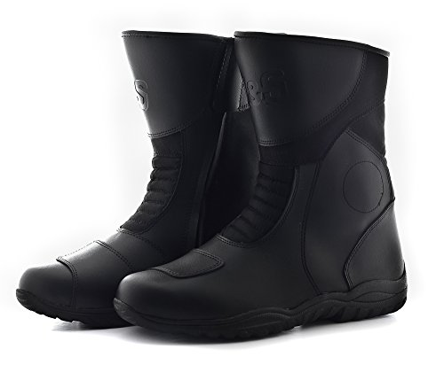 J&S SUPER TOUR MOTORCYCLE BOOT BLACK MOTORBIKE BOOTS TOURING (EURO 41 / UK 7)