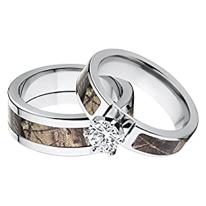 amazoncom his and her39s matching realtree ap camouflage With realtree camo wedding rings for her
