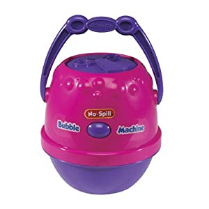 Little Kids No-Spill Bubble Machine - Pink/Purple