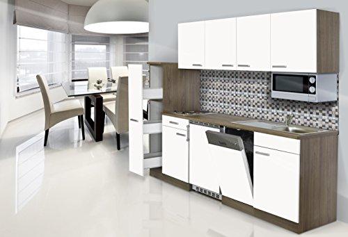 respekta-CERAN-Cocina-equipada-225-cm-Botiqun-de-York-de-roble-Microondas-color-blanco