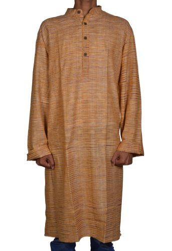 Mens Casual Long Kurta Cotton Fabric For Winter & Summers Size 4XL