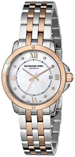 Raymond Weil Women's 5391-SP5-00995 Tango Analog Display Swiss Quartz Two Tone Watch
