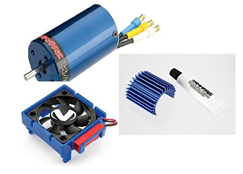 TRAXXAS MOTOR VELINEON 380 BRUSHLESS, WITH COOLING FAN AND HEAT SINK (Traxxas Heatsink Cooling Fan compare prices)