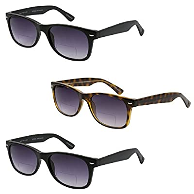 GAMMA RAY SUNREADERS Combo Pack of Vintage Style Bifocal Gradient Sunglasses Readers with UV400 Protection Outdoor Reading Glasses for Men and Women