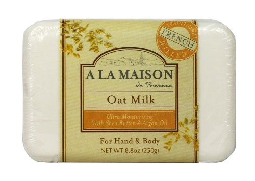 A La Maison Solid Bar Soap, Oat Milk, 8.8 Ounce
