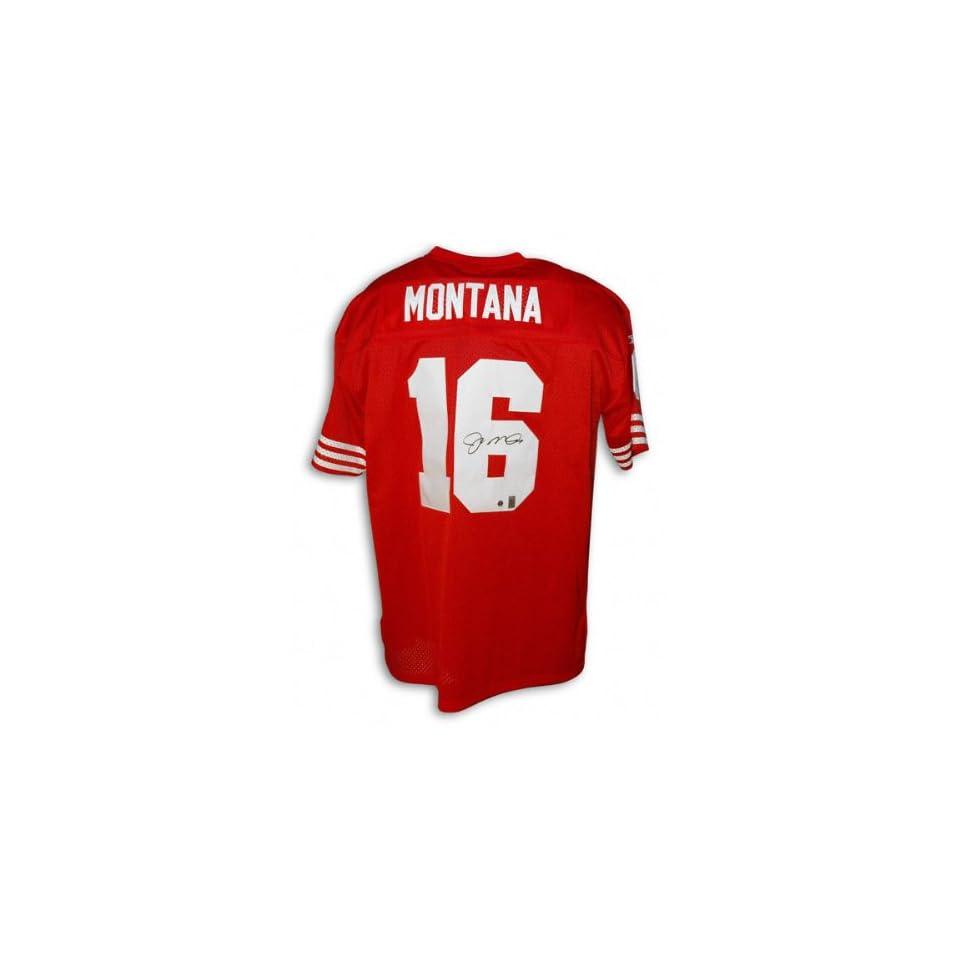 online store d96ab d1d1a Joe Montana San Francisco 49ers Autographed Red Reebok ...