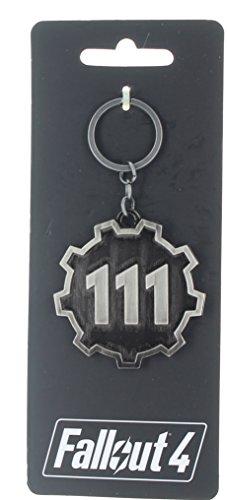 Fallout Vault 111-Catena portachiavi in metallo, confezione da 4
