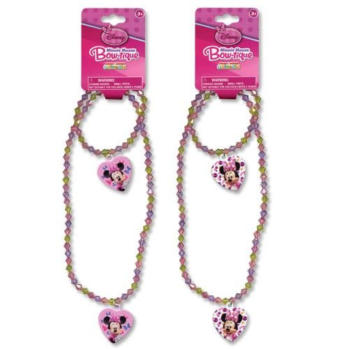Disney Minnie Mouse Bowtique Necklace & Bracelet set