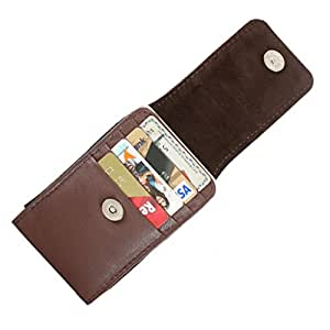 DooDa Genuine Leather Pouch Case Cover With Magnetic Closure For Intex Aqua Style