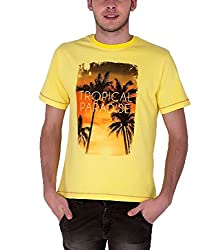 Sera Mens Summer Graphic Tee (ME1008_Yellow _X-Large)