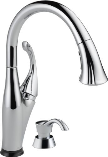 Delta Faucet 9192T-SD-DST Addison Single Handle Pull-Down Kitchen Faucet with Touch2O Technology and Soap Dispenser, Chrome by DELTA FAUCET (Delta Addison Touch2o compare prices)