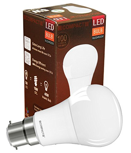 Mushroom-5W-B22-LED-Bulb-(Cool-White)