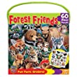 MASTERPIECES 60 PC FOREST FRIENDS JIGSAW PUZZLE W/STICKERS