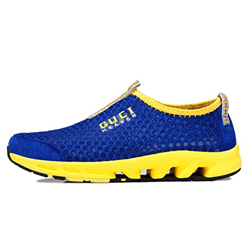 Guqtianlun Mens News Spring British Style New Fashion Breathable Casual Sneaker(9.5 D(M)US, Blue)