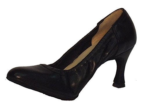 Scarpa da donna per ballo standard modello decoltè in nappa nera tacco 70N (Taglia 41)