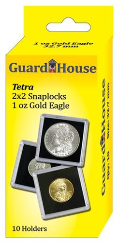 Guardhouse - 2x2, 1 Oz AGE Tetra Snaplock, Coin Holders-10 ea.
