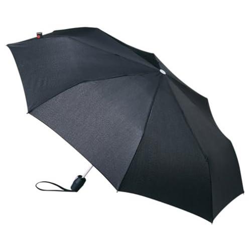 Knirps Fiber T2 Duomatic 折りたたみ傘 【自動開閉式】 Black 【正規輸入品】 KNF878-100