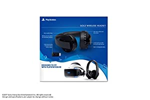 PlayStation Gold Wireless Headset - PlayStation 4 (Color: Gold, Tamaño: 9.60in. x 9.30in. x 4.70in.)