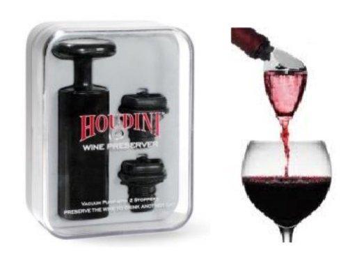 Awardpedia Metrokane Wine Pourer With Stopper Black