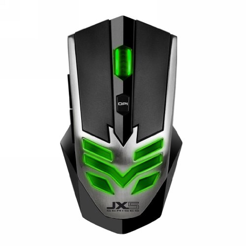 Qisan 2800 Dpi 6 Button Green Led Light Glowing Usb Wired Gaming Mouse